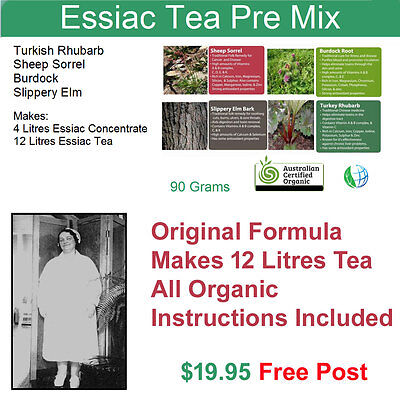 Organic Essiac Tea Powder. Premix. Makes 12 Litres of Organic Essiac Tea