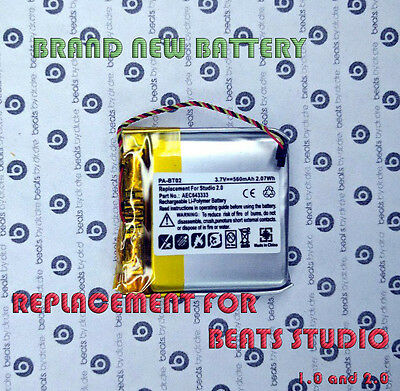 NEW AEC64333 Battery Replacement for Beats by Dr. Dre Studio 2.0 Headphones