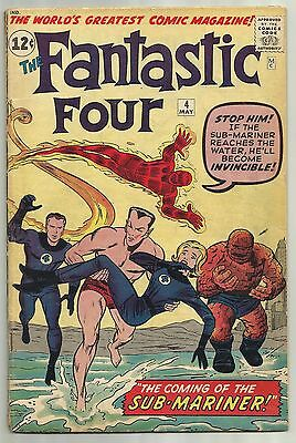 Fantastic Four #4 Marvel 1962 Kirby Cover 1st App of Silver Age Sub-Mariner