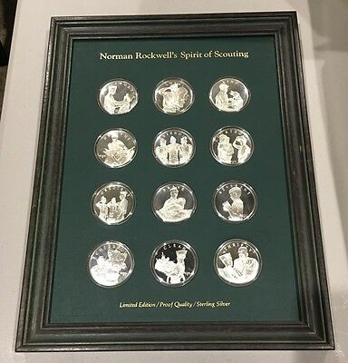 NORMAN ROCKWELL'S Sterling Silver Spirit Of Scouting Limited Edition Proof Coins