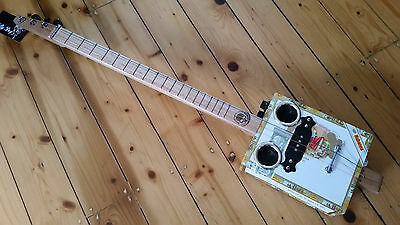 cigar box guitar - LEFTY- hand crafted by salty dog CBG