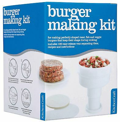 Kitchen Craft Hamburger Maker with 100 Wax Discs   *FREE DELIVERY*