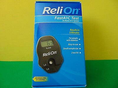 Relion FastA1C Test At Home System 2 Test Kit New & Sealed
