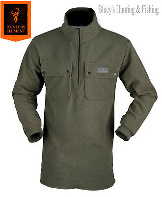 Hunters Element Mens WARM fleece Spare pocket Bush shirt hunting jacket