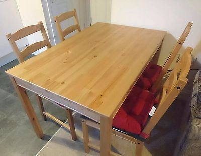ikea jokkmokk dining table and 4 chairs used antique pine picclick uk. Black Bedroom Furniture Sets. Home Design Ideas