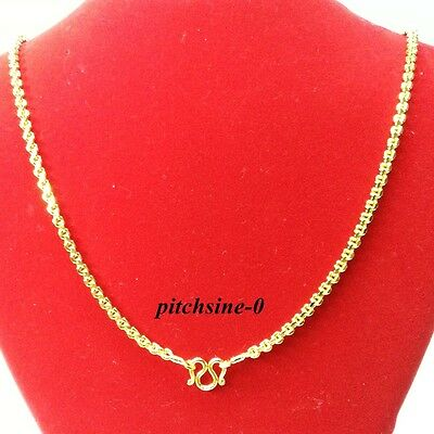 22K 23K 24K New Chain Deluxe Jewelry Thai Baht Gold Yellow Gp Necklace Child
