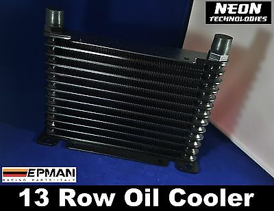 13 Row Oil Cooler BLACK *AN10* Universal Mount Engine / Transmission / Rear Diff