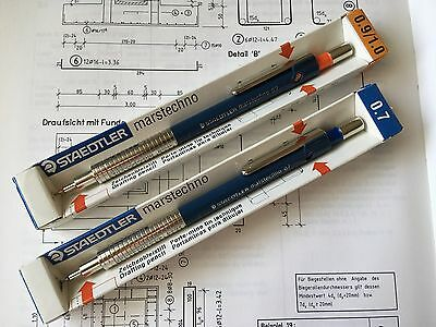 Two Vintage Mechanical Pencils Staedtler Marstechno 77007 & 77009 : Boxed