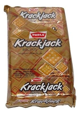 Parle Krackjack  Biscuits ( 60gm X 5Pack ) X 2 Packs
