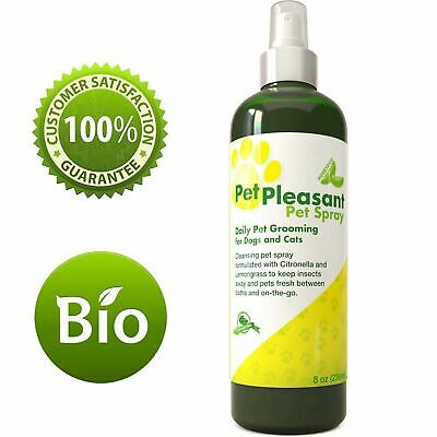Natural Pet Spray for Dogs & Cats Tick + Flea & Insect Repellent with Lemongrass