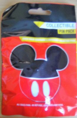 Disney Collectable Pin Pack -Mickey Icons-Contains 5 Randomly Selected Pins