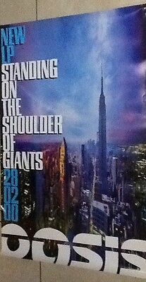 Oasis uk promo poster/ Standing on the Shoulder of Giants