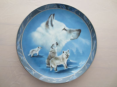 Arctic White Companions Wolf Plate Spirit of the Wilderness Bradford Exchange