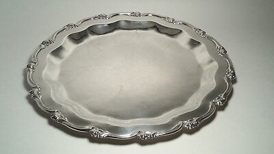 Sterling Silver serving tray 925 made in Peru. 11""