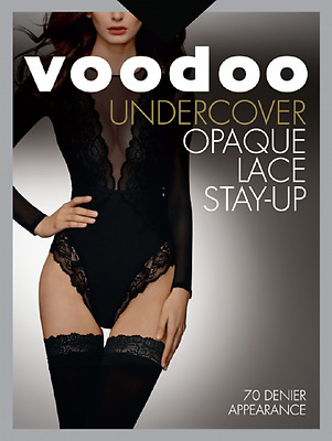 Voodoo Fashion Undercover Opaque Lace Stay-up 70D H30526