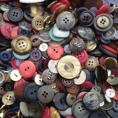 50 x Mixed Vintage  Buttons, Craft, Scrapbooking, Cards, Clothes