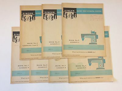 Rare 1965 Singer Co. Home Dress Making -  Complete Course Books 1-7
