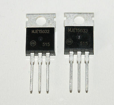 MJE15032 MJE15033 Power Transistor TO-220 (1pair) New