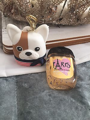 Bath And Body Works Mini hand Bac 'Paris' Plus Cute French Bulldog Holder