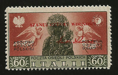 1944 Wwii Poland -- Polish Legion Volunteers In Italy Mint Overprinted Stamp