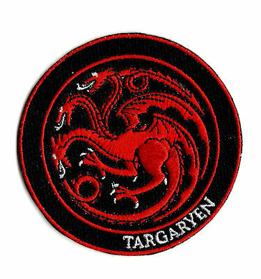 TARGARYEN SIGIL IRON ON / SEW ON PATCH Embroidered Badge PT57 GAME OF THRONES