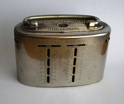 Barclays Bank Limited Vintage Metal Home Safe Money Box 32962