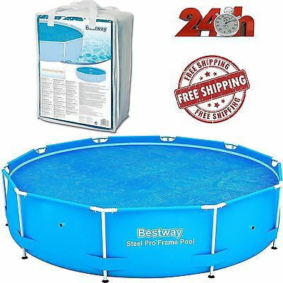 NEW Bestway SOLAR COVER SWIMMING MIntex Solar Pool Cover 10ft Frame Easy Set