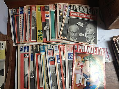 Lot Of Private Eye Magazines 1984