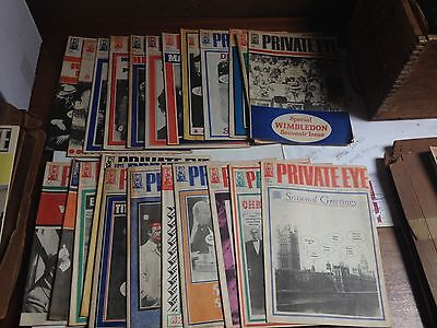 Lot Of Private Eye Magazines 1985