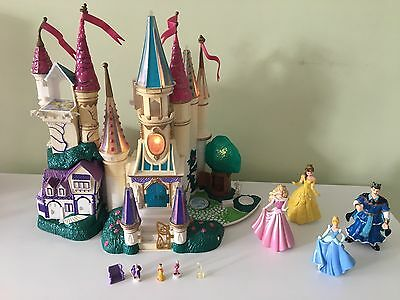Beauty and The Beast Castle Disney RARE 1998 Polly Pocket Size Trendmasters Toy