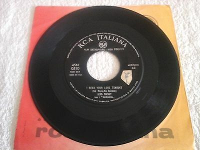 ELVIS PRESLEY - I need your love tonight/A fool such as i - 45 RPM - SOLO DISCO