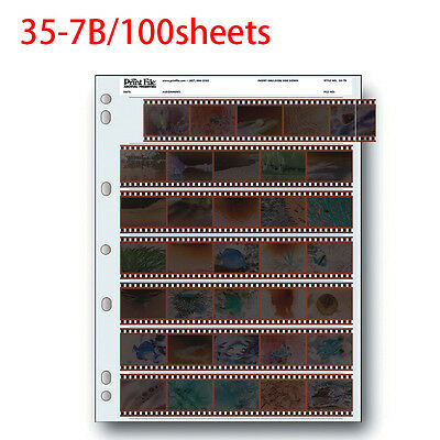 Archival Storage Holder Print File 35-7B 100 Shts for 35mm Film 7 Strips 30 Pack