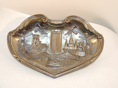 New Orleans, City of Bourbon Souvenir Dish Crown with Charny on back (12447)