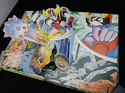 Vintage 1976 UFO Robo Robot Grendizer Mazinger Pop Up book Book Japan Rare