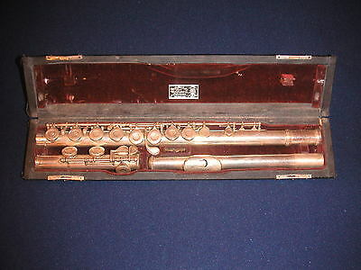 c.1951 WM. S. HAYNES FLUTE - BOSTON, MA - C FOOT CLOSED HOLE - GOLDEN ERA
