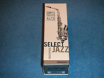 D'addario Select Jazz Alto Saxophone Mouthpiece - D6M - New In Box