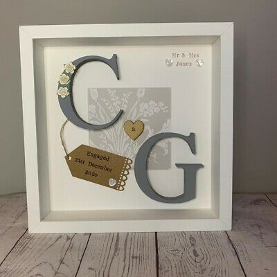 💎Personalised Wedding Gift Engagement, Anniversary Framed Keepsake Wooden