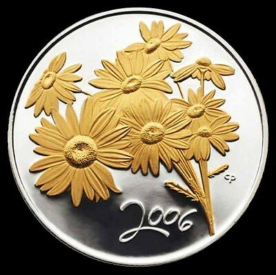 "2006 ""Golden Daisy"" 50-Cent Sterling Silver Coin"