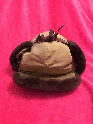 Vintage LL Bean Trapper Bomber Hat  Winter Hunting Aviator Size Large