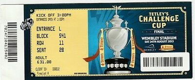2013 CHALLENGE CUP FINAL Match Ticket Wigan v Hull FC at Wembley