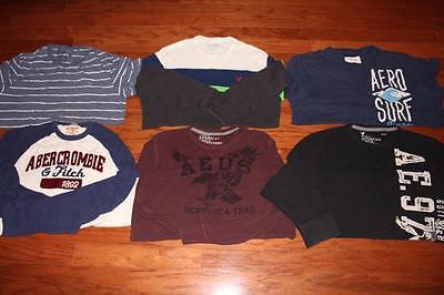 Lot 6 American Eagle Mens Shirts Graphic Tees Abercrombie & Fitch Aero Xxl 2Xl