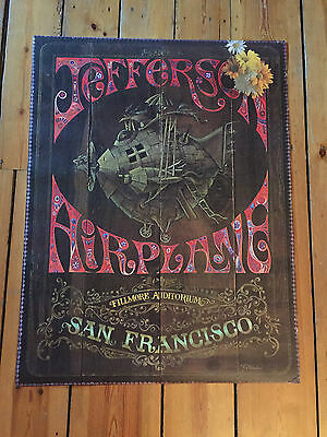 ORIGINAL Jefferson Airplane Filmore Promo Poster 1967 Sparta Woodstock