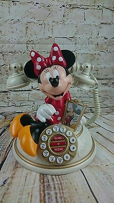 Rare Disney Minnie Mouse Talking Desk / House Telephone - Vintage