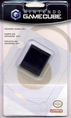 Official Nintendo Gamecube Memory Card 251 Blocks (16MB) Genuine Brand New