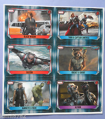 Topps Marvel Missions Hero Attax Promo Sheet