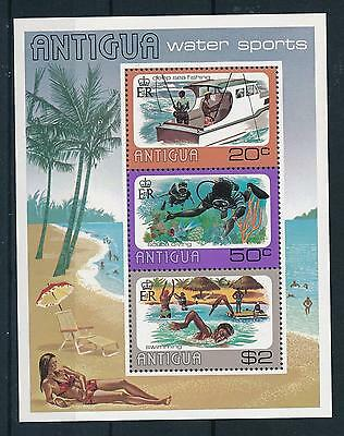 [22071] Antigua 1976 Water Sports Souvenir Sheet MNH