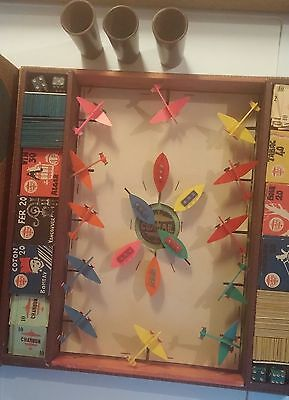 Vintage Board Game Planes & Boats French COSMIC 1951 RARE Game Board