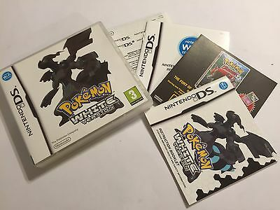 THE BOX & INSTRUCTIONS ONLY !!! FOR NINTENDO DS DSL DSi POKEMON WHITE VERSION 1