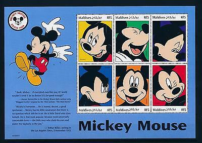 [36030] Maldives 1999 Disney Mickey Mouse MNH Sheet