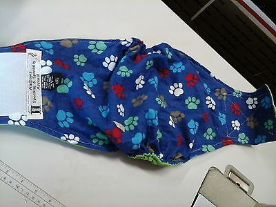NEW Handmade Sz XXS Flannel CURVED w/Elastic Sides, Belly Bands for Male Dog Pup